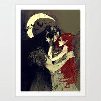 Hades And Persephone I Art Print