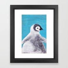 Cotton Penguin Framed Art Print