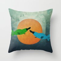 Platypus Love Throw Pillow