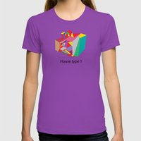 House Type 1 Womens Fitted Tee Ultraviolet SMALL