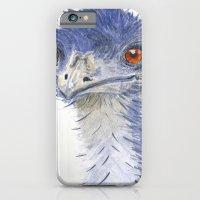 emu watercolour iPhone 6 Slim Case