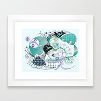 Winter tangle Framed Art Print