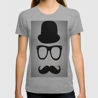 Gentleman Womens Fitted Tee Athletic Grey SMALL