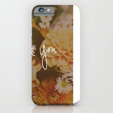 Love You x Orange Floral Slim Case iPhone 6s