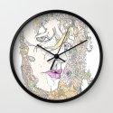 botanical hues Wall Clock