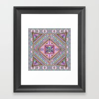 Sweet Funky Retro Mandal… Framed Art Print