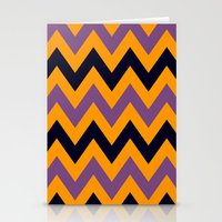 Halloween Chevron Stationery Cards