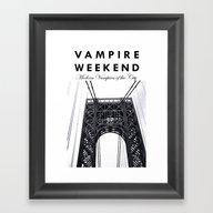 Vampire Weekend / George… Framed Art Print