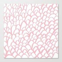 Blushing / Painted Patte… Canvas Print