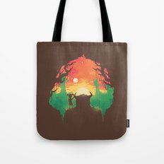 Sunset with a friend Tote Bag