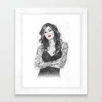 Kat Von D Red Lips Framed Art Print