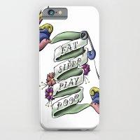 iPhone & iPod Case featuring Eat Sleep Play Poop by Tilden Art