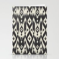 Black & Cream Tribal Ika… Stationery Cards