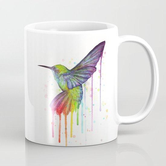 Hummingbird Watercolor Mug