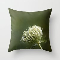 Closed Queen Anne's Lace Throw Pillow