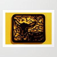 Sleeping Fawn Papercut Art Print