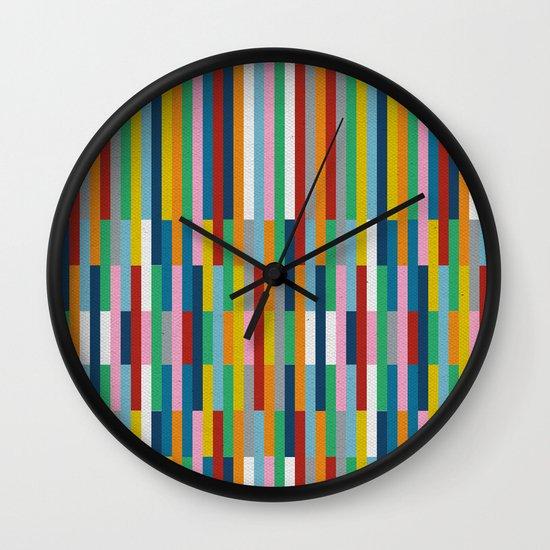 Bricks Rotate #3 Wall Clock