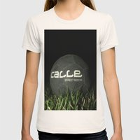 Calle-Swag District. Womens Fitted Tee Natural SMALL
