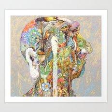 Head nature Art Print