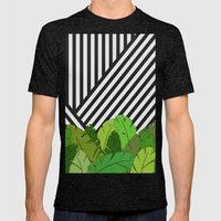 Green Direction Mens Fitted Tee Tri-Black SMALL