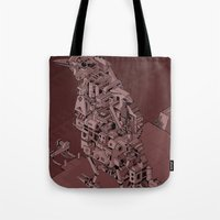 Red Bird Machine City Tote Bag