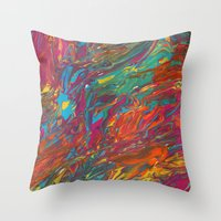 Gravity Painting 11 Throw Pillow