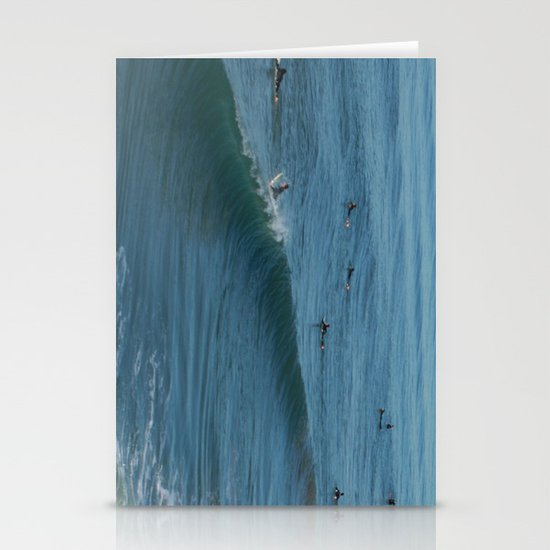 Waves on Sunday Stationery Card