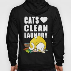 Cats love clean laundry Hoody
