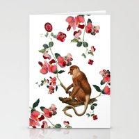 Monkey World: Nosy - Whi… Stationery Cards