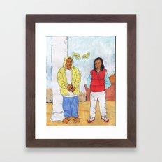Throw back. Framed Art Print