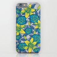 Flowers - Blue iPhone 6 Slim Case