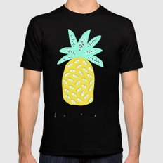 BEACH PLEASE Mens Fitted Tee Black SMALL