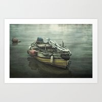 Moored for the night Art Print
