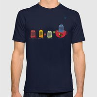 tea Mens Fitted Tee Navy SMALL