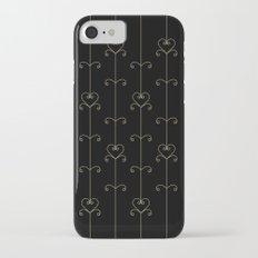 Tan & Black hearts iPhone 7 Slim Case