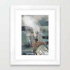 Sinking Man Framed Art Print