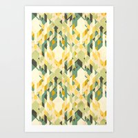 des-integrated tartan pattern Art Print