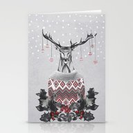 Christmas Deer (by Maria… Stationery Cards