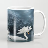 Tribal Swans Mug