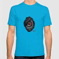Power Off Mens Fitted Tee Teal SMALL