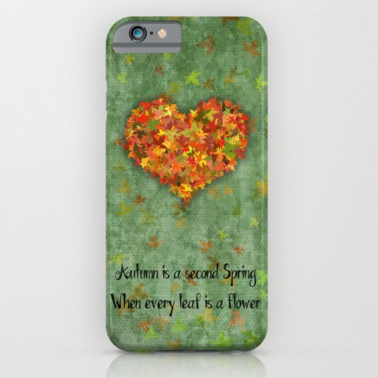 Autumn Flowers iPhone & iPod Case