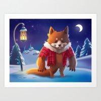 Little Werewolf Art Print