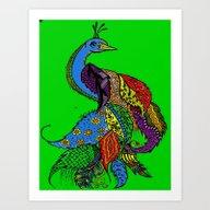 Art Print featuring Peacock Mandala by SwanniePhotoArt