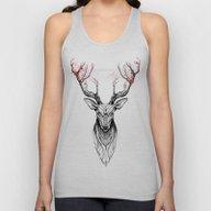 Deer Tree (black Stroke … Unisex Tank Top