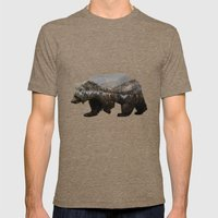 The Kodiak Brown Bear Mens Fitted Tee Tri-Coffee SMALL