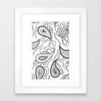 Lovely Paisley Framed Art Print