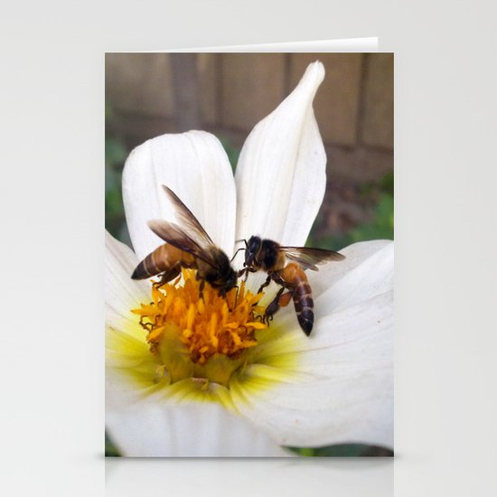 Bees at Work Stationery Card