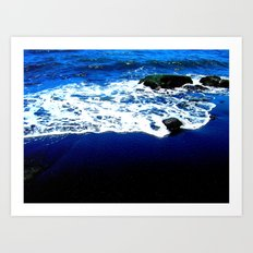 Black Sand Beach Art Print