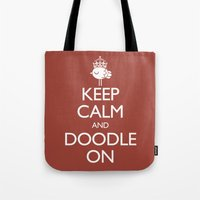 Keep Calm & Doodle On (R… Tote Bag