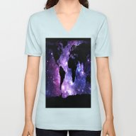 Unisex V-Neck featuring World Map. by WhimsyRomance&Fun